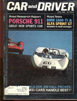 Car & Driver April 1965 Porsche 911, BMW more