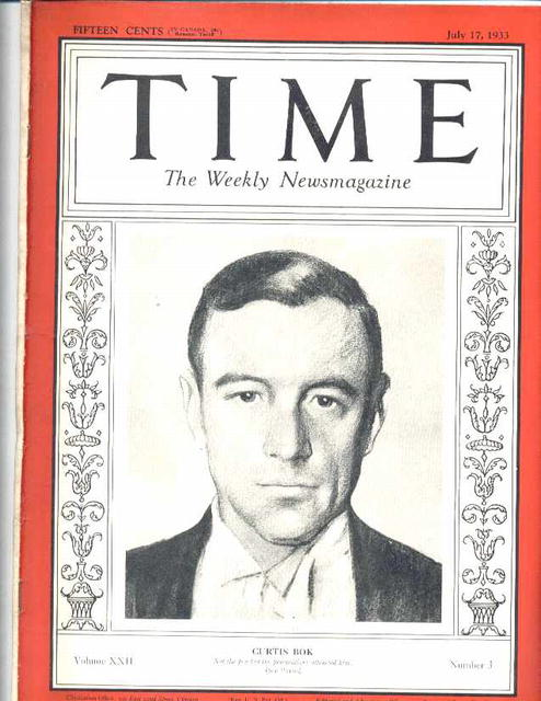 7/17/33 Time Magazine curtis bok