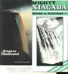 Niagara Illuminated 1930 & ...Roars a Welcome