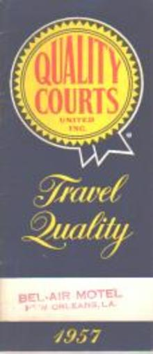 Quality Courts 1957 Motel Guide Book EX