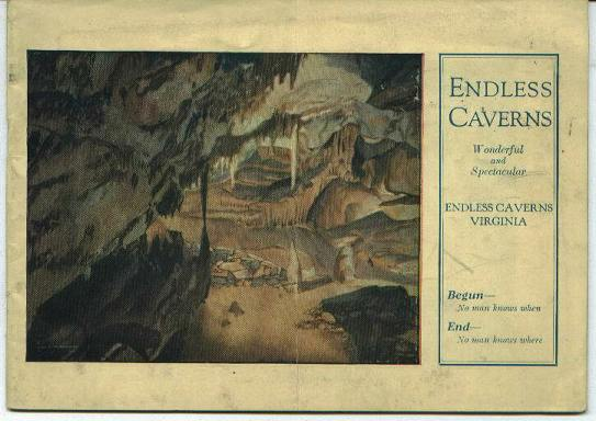 Endless Caverns, Newmarket, VA, circa 1930