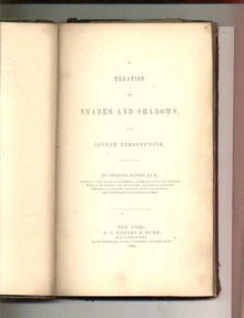 1860 Treatise On Shades And Shadows&Perspect