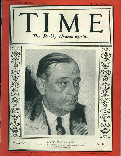 TIME, Samuel Clay Williams, 2/25/35
