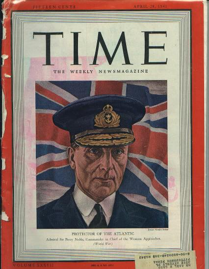TIME, Brit Adm. Sir Percy Noble, 4/28/41
