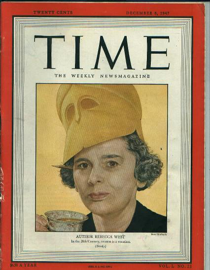 TIME, Author Rebecca West, 12/8/47
