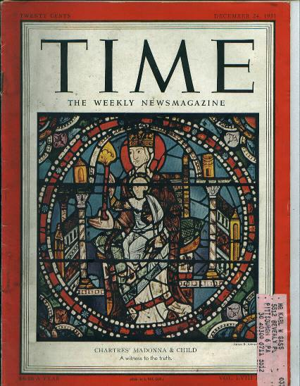 TIME, Chartres' Madonna & Child, 12/24/51