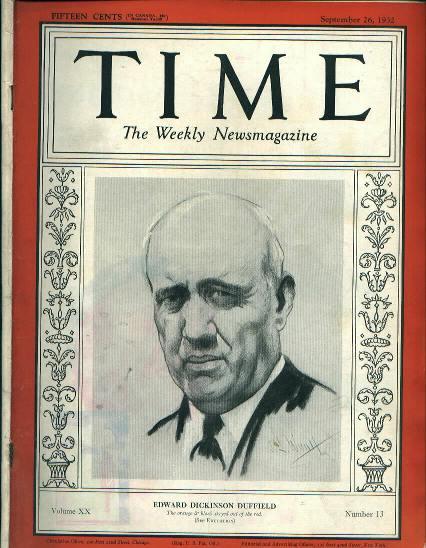 TIME, Princeton's Edward D. Duffield, 9/26/32