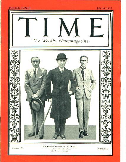 TIME, Ambassador Hugh Simpson Gibson, 7/18/27