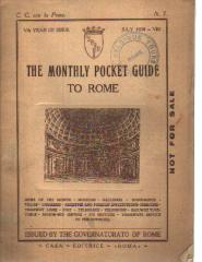 July 1930 Monthly Pocket Guide to Rome