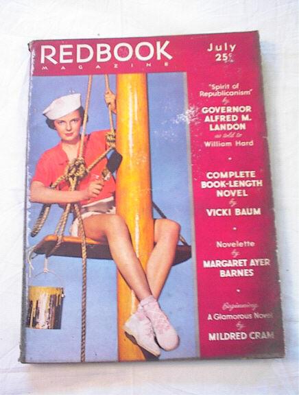 July,1936 Redbook magazine Mildred Cram