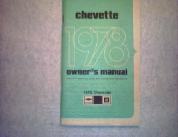 1978Chevette(Chevrolet )Owner's Manual