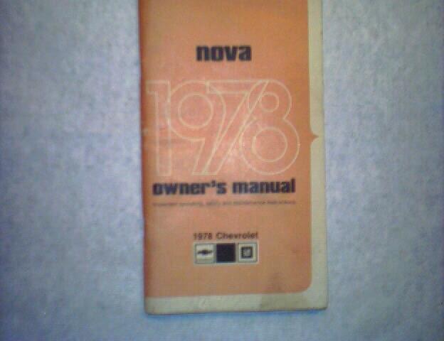 1978 Nova (Chevrolet) Owner's Manual