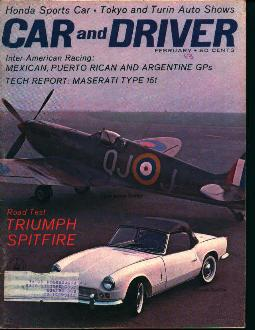 Car and Driver-2/63 Triumph Spitfire