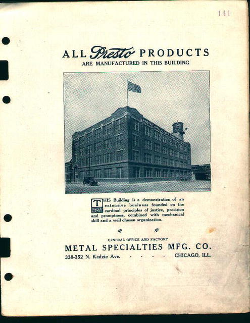 Machine Parts-Presto Auto Products Building