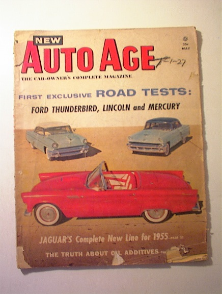 NEw Auto Age,5/1955,FORD THUNDERBIRD cover