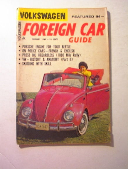 Foreign Car Guide,2/1964,PORSCHE ENGINE!!