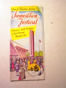 Jamestown,VA Festival,11/1957,Brochure
