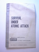 Survival Under Atomic Attack,c 1950