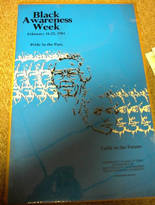 BLACK AWARENESS WEEK FEB 16-22,1981 POSTER