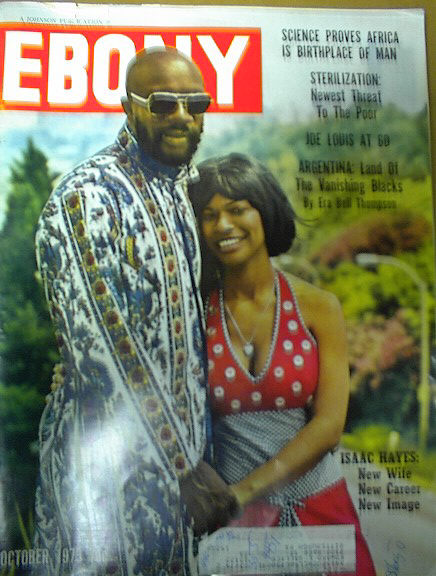 EBONY ISSUE WITH ISAAC HAYES ON COVER OCT,73