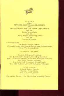 Digest 72nd Session PA Baptist Conven 1963