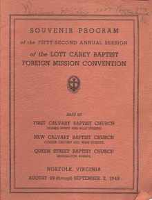 1949 Lott Carey Foreign Mission 52 Convention