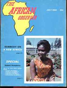The African Observer July 1968 Robert Kennedy