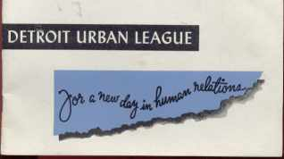 Detroit Urban League 1952 New Day booklet
