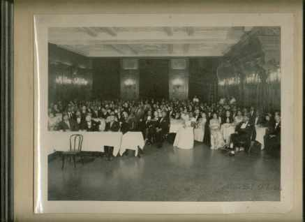 Real Photo Black Masonic Lodge Banquet 1950s