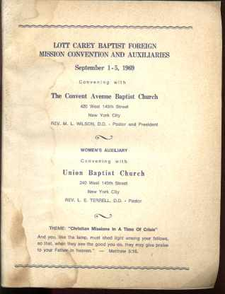 1969 Lott Carey Baptist Foreign Misson Convn