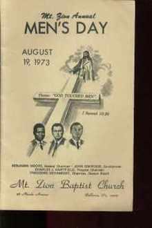 Mt Zion Annual Mens Day Program 1973 Bellevue