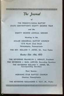Journal PA Baptist Convention 1973 w By-laws