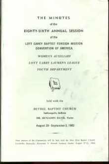 1983 Lott Carey Baptist Foreign Misson Convn
