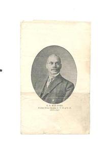 g.u.o.o.f. Odd Fellows Lodge flyer, 1923