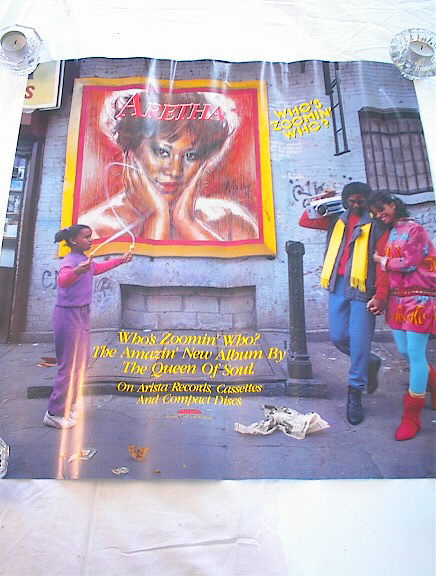 GREAT ARETHA WHO'S ZOOMIN WHO ALBUM POSTER