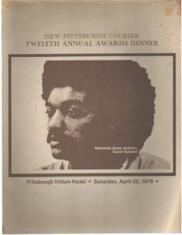 Jesse Jackson Program 1978 Pgh Courier Awards