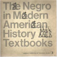 The Negro in Mod American History Texts 1966