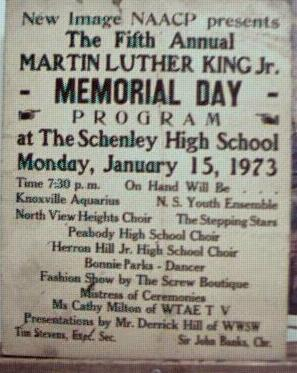 Poster 1973 NAACP M L King Memorial Day