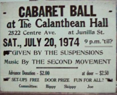 The Second Moverment band 7/1974 poster