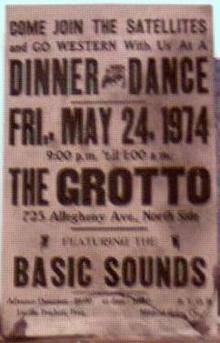 Poster 1974 The Satellites w Basic Sounds
