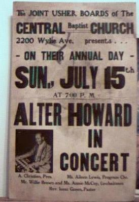 Alter Howard in Concert, Poster 1970s Pgh