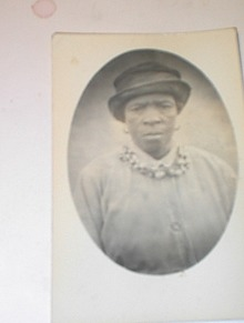 Ca 19220 Real Photo BLACK Woman,D. Pace