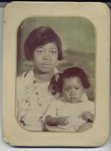 Vintage Photo Mother & Child