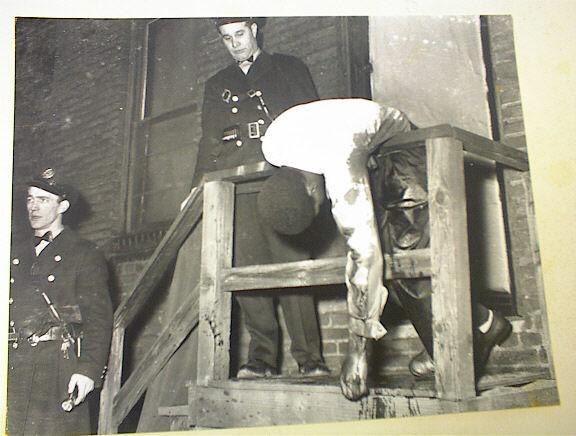 GREAT 1930's B/W BLOODY Murder Scene Photo