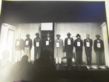 1940's Police Line Up Photo B/W     VERY NICE