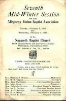 Nazereth Baptist Church Bulletin from 1968!