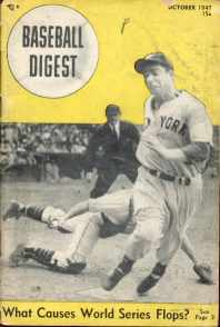 Baseball Digest Oct 1947 Joe Dimaggio Cover