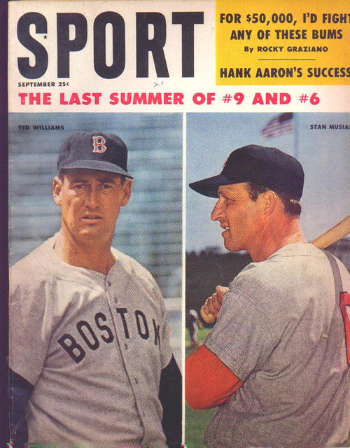 Sport Magazine, Williams and Musial cover