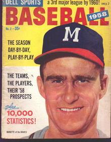 Dell Sports Baseball 1958
