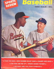 Sports Review Baseball '59 w/Aaron&Musial
